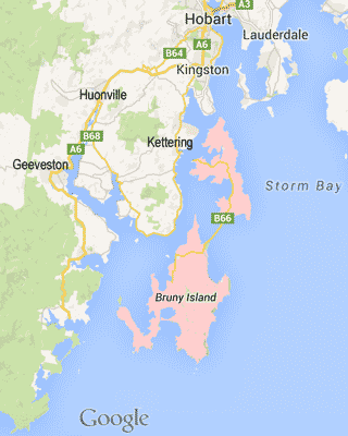 map-bruny-island